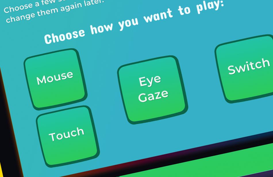 screenshot of settings options