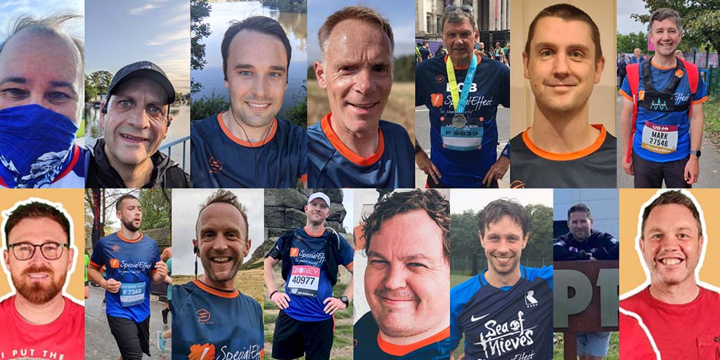 Montage of 15 runners