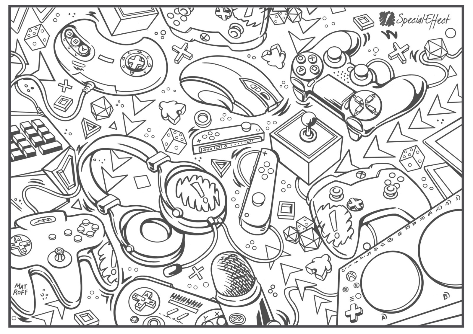 Special Effect Colouring Sheet